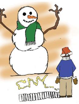 snowman illustration by Jake Colquhoun