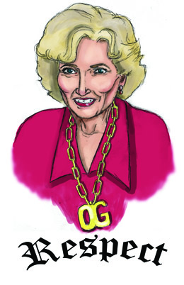 Illustration of Betty White by Crystal White