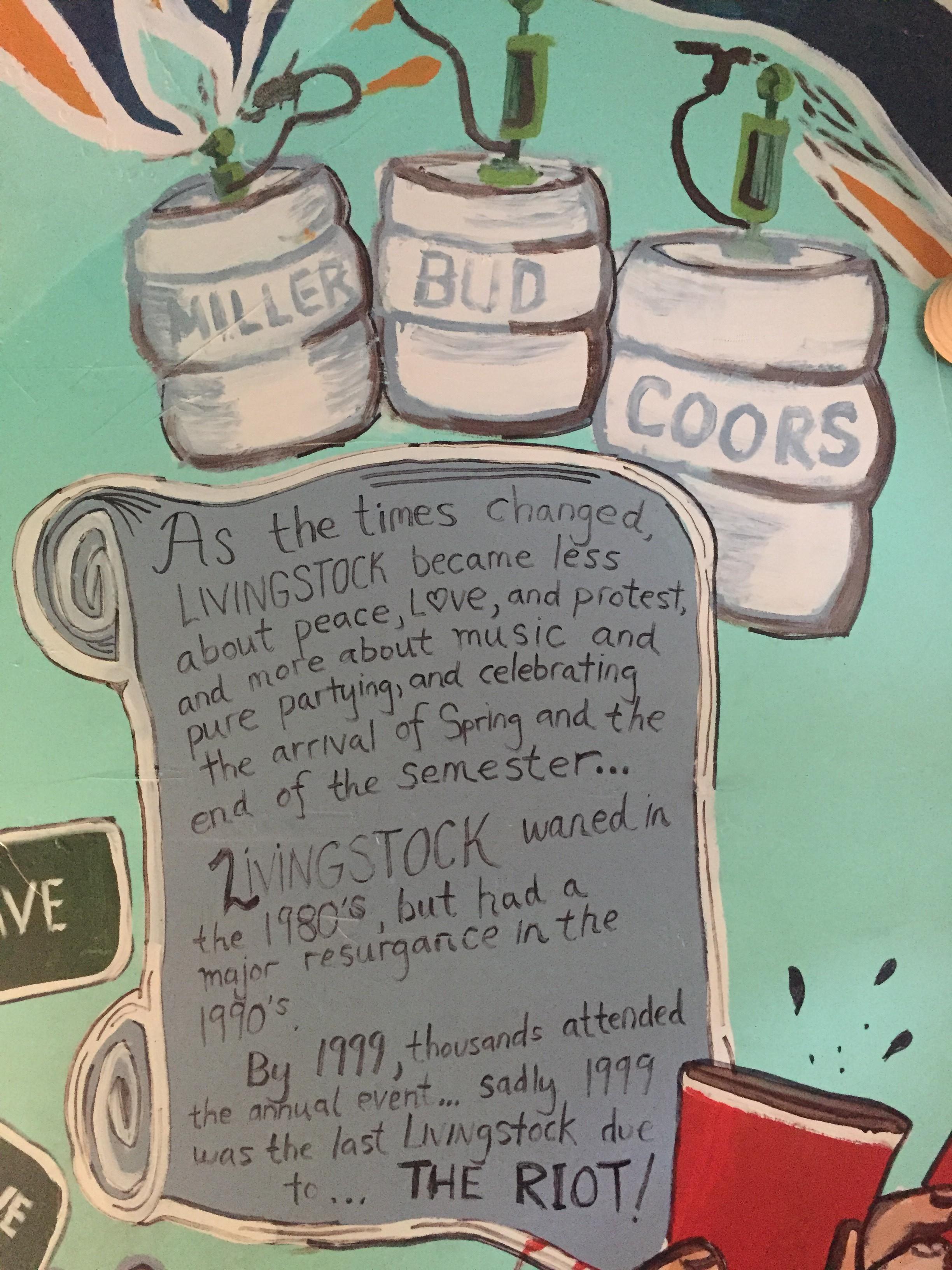 The Livingstock mural at 701 Livingston