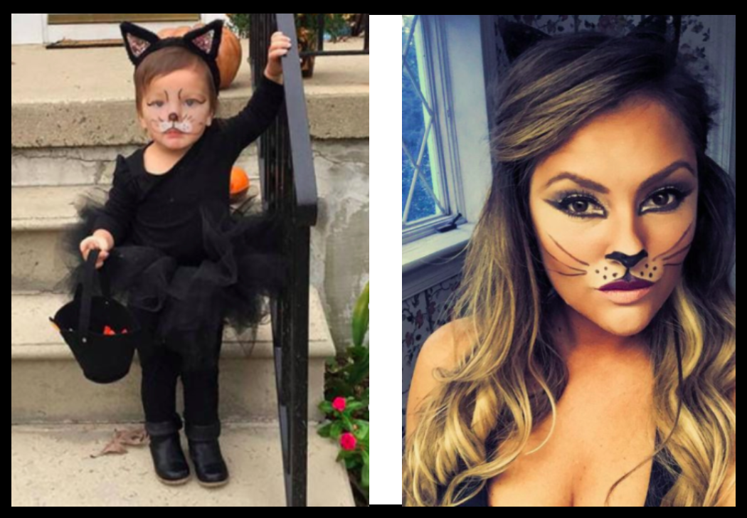 Childhood costume: Etsy, Recreated look: Pinterest