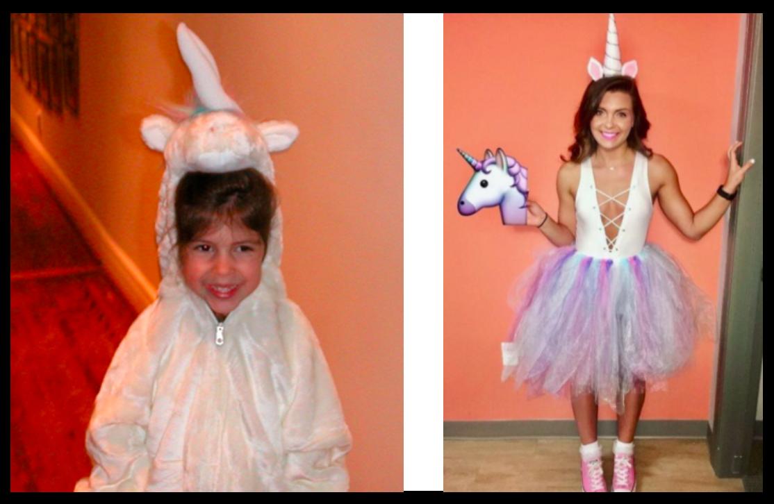 Childhood costume: Emmy Gnat, Recreated look: Pinterest