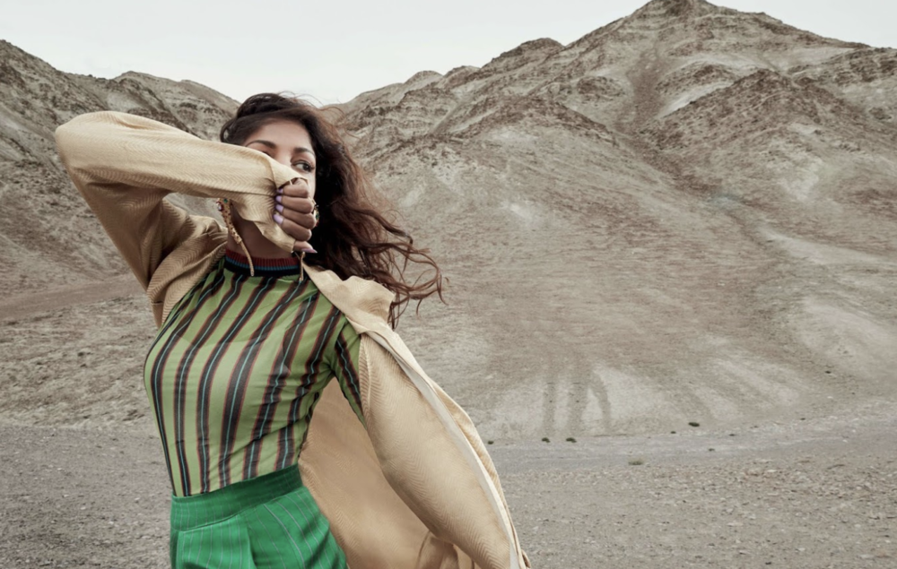 M.I.A.   WEARS JEAN PAUL GAULTIER ARCHIVE HOL    for ELLE India    photography Colston Julian