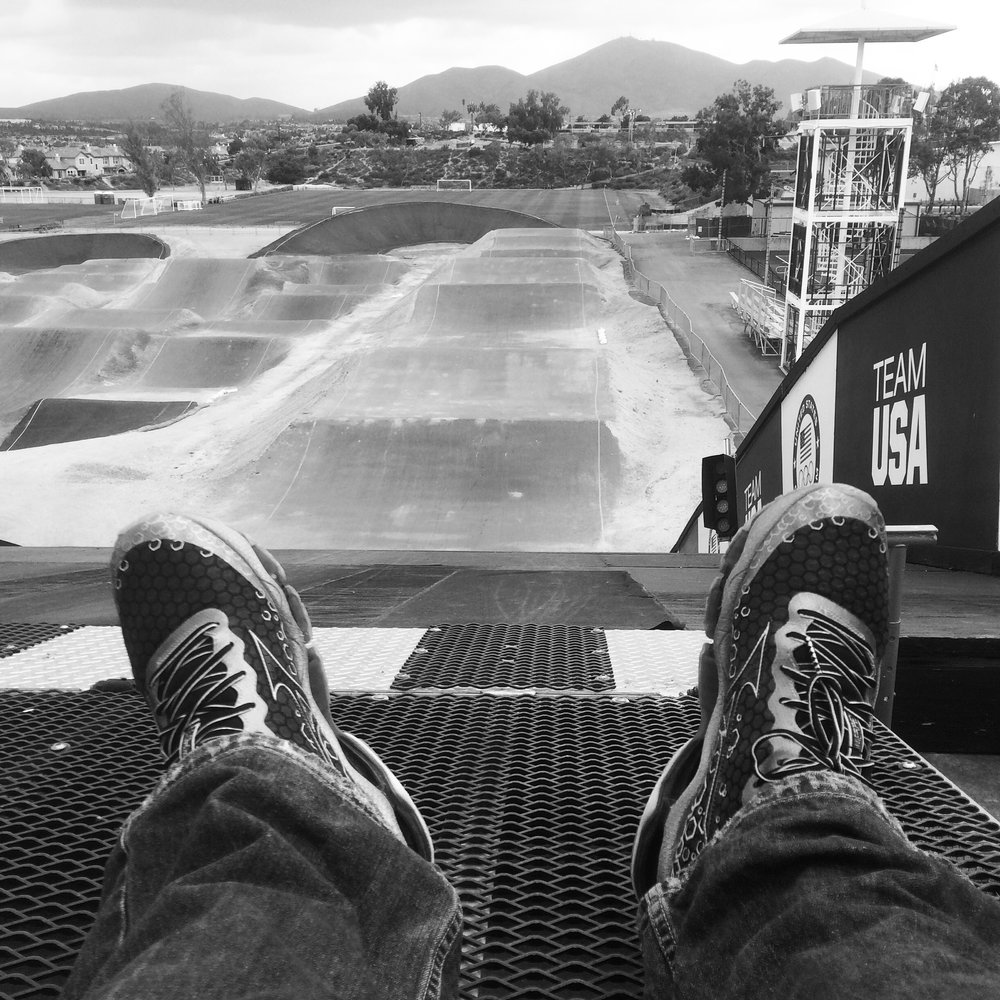 Top of the Supercross Start Ramp at the Olympic Training Center, Chula Vista CA.