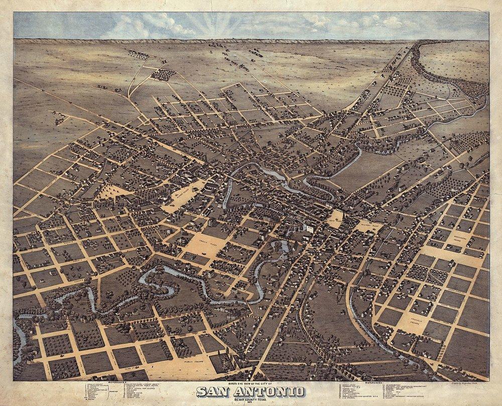 San Antonio, Texas in 1873