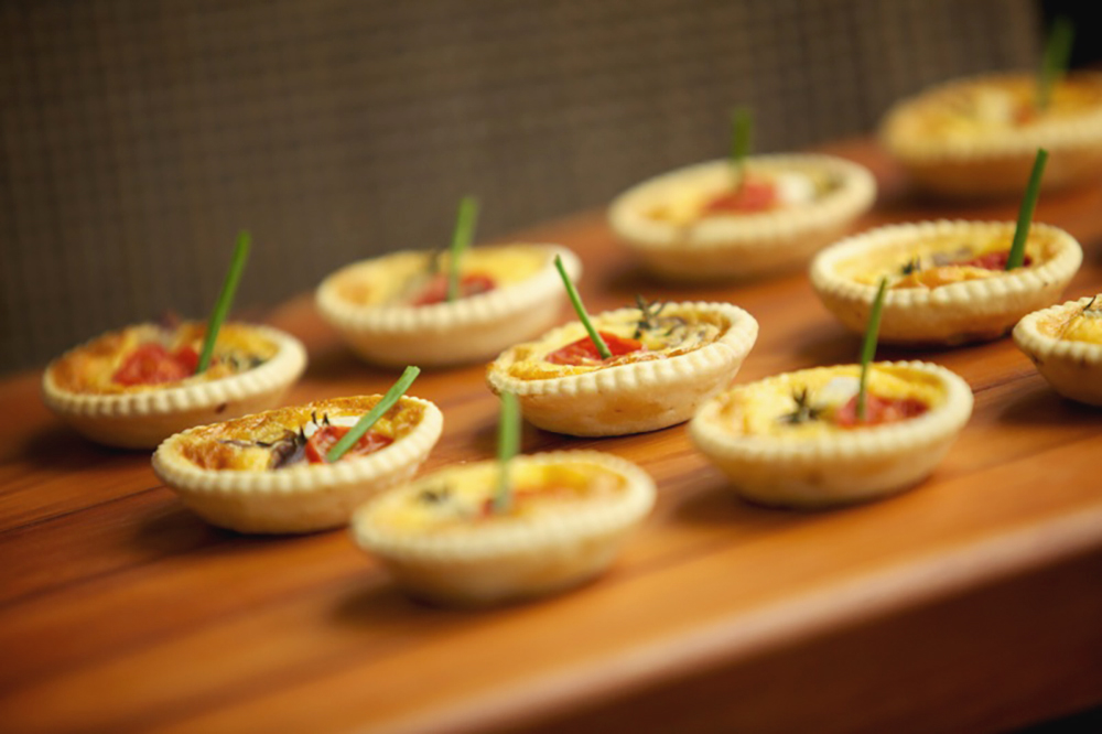 Blue carrot catering quiche