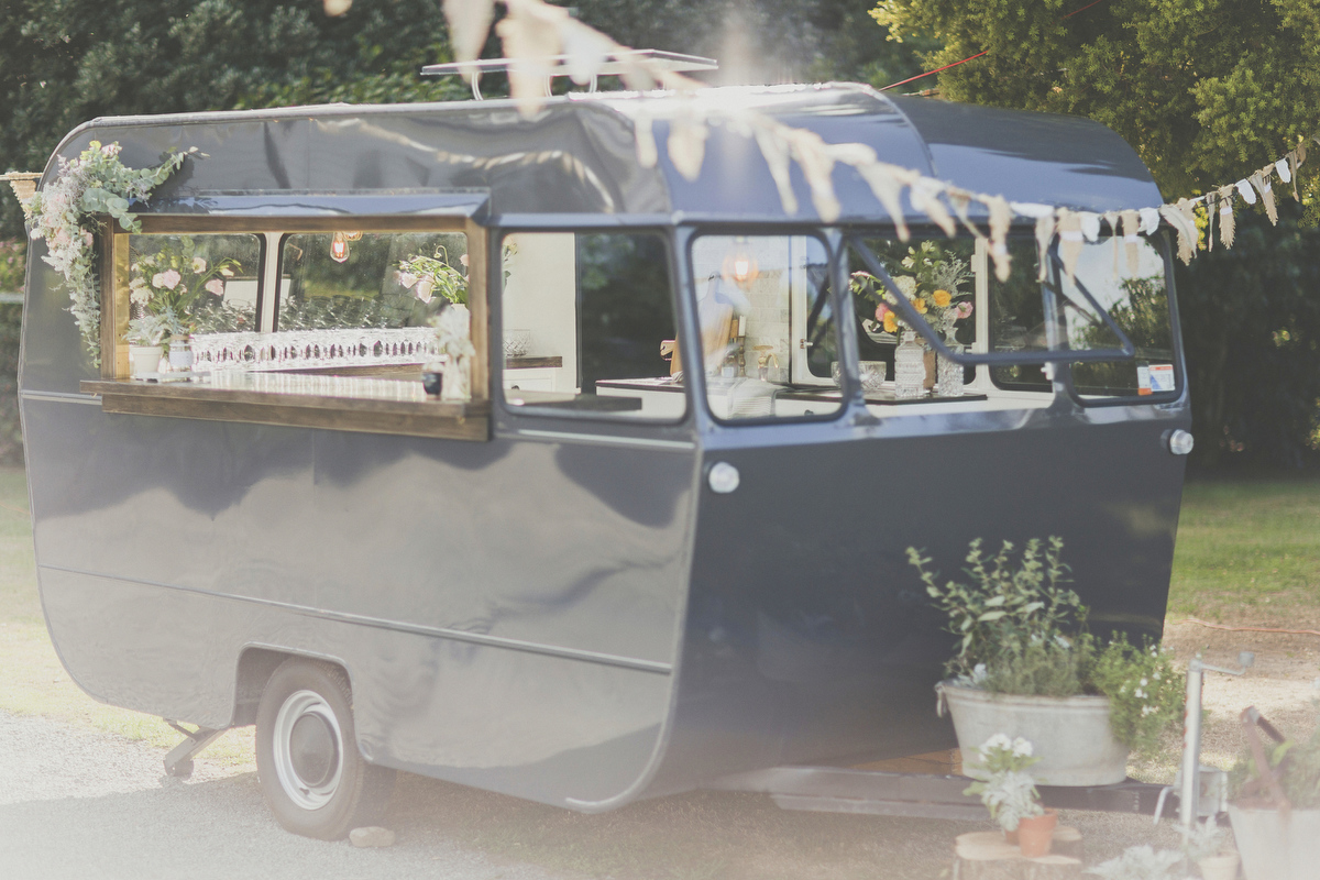 Caravan bar at a wedding in New Zealand