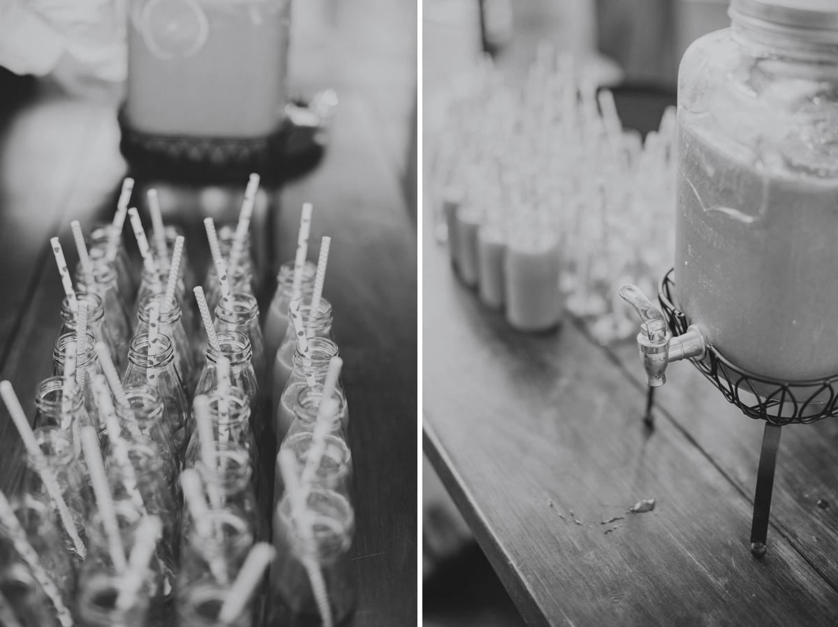 vintage drinks at wedding