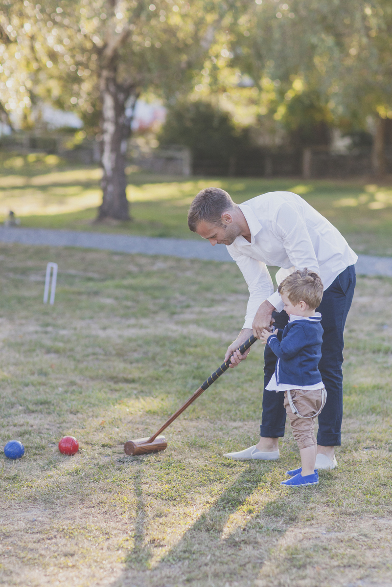Croquet game at wedding in New Zealand