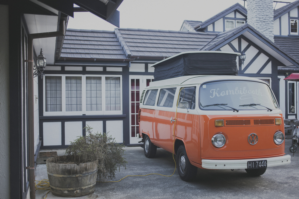 Wedding in Wellington with a Kombi Van as a photo booth