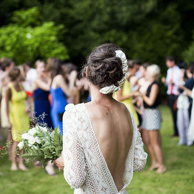 Bride at a wedding