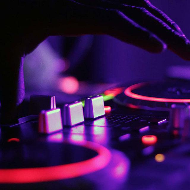 Close up of DJ deck