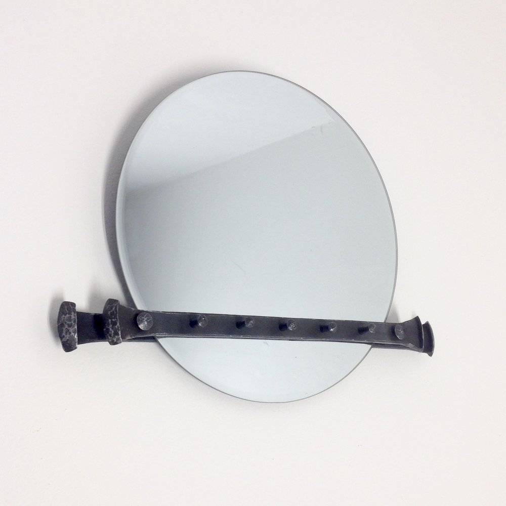 FORGED MIRROR BRACKET WITH NECKLACE HANGERS