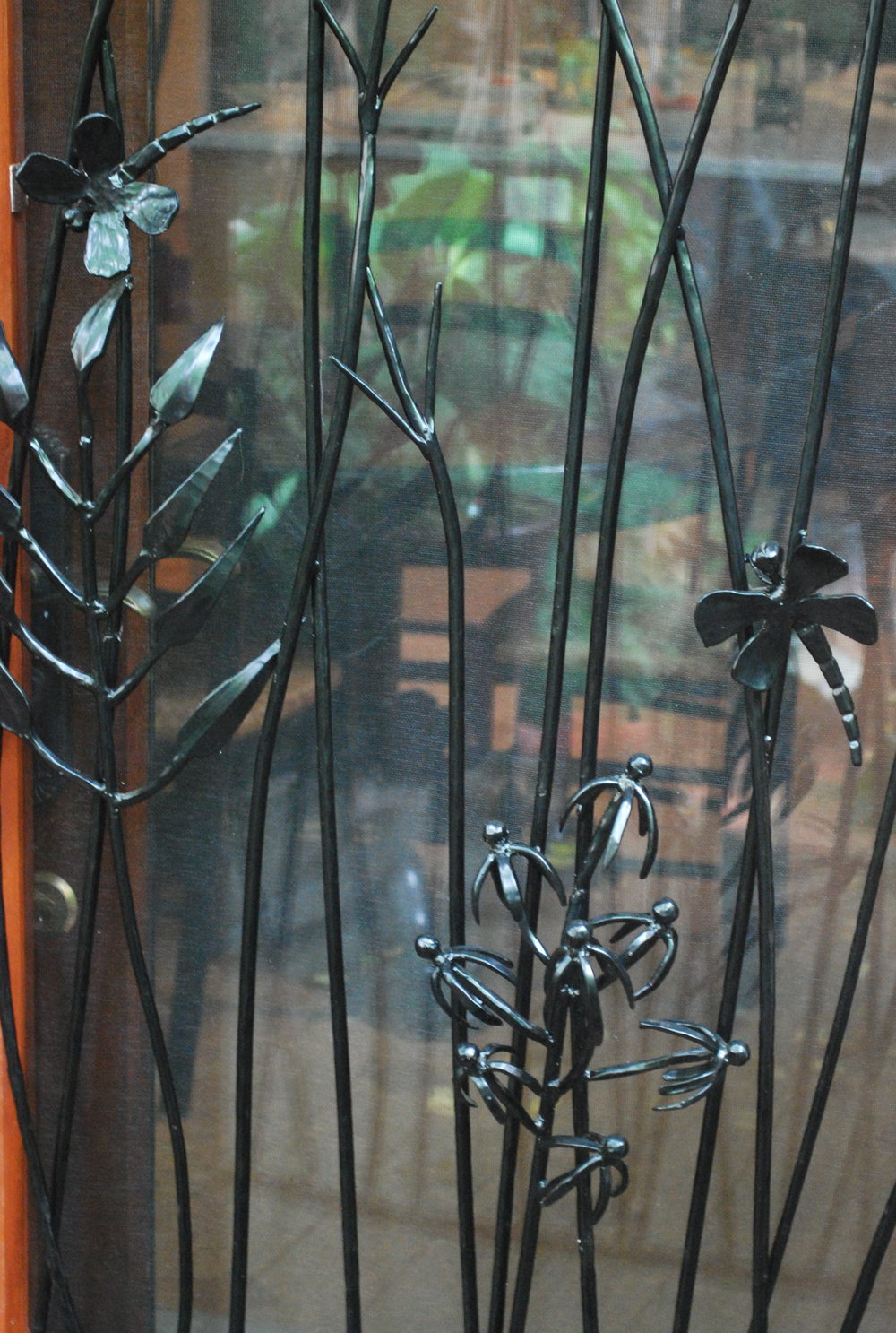 GRASS & DRAGONFLY WINDOW GRILL (details)