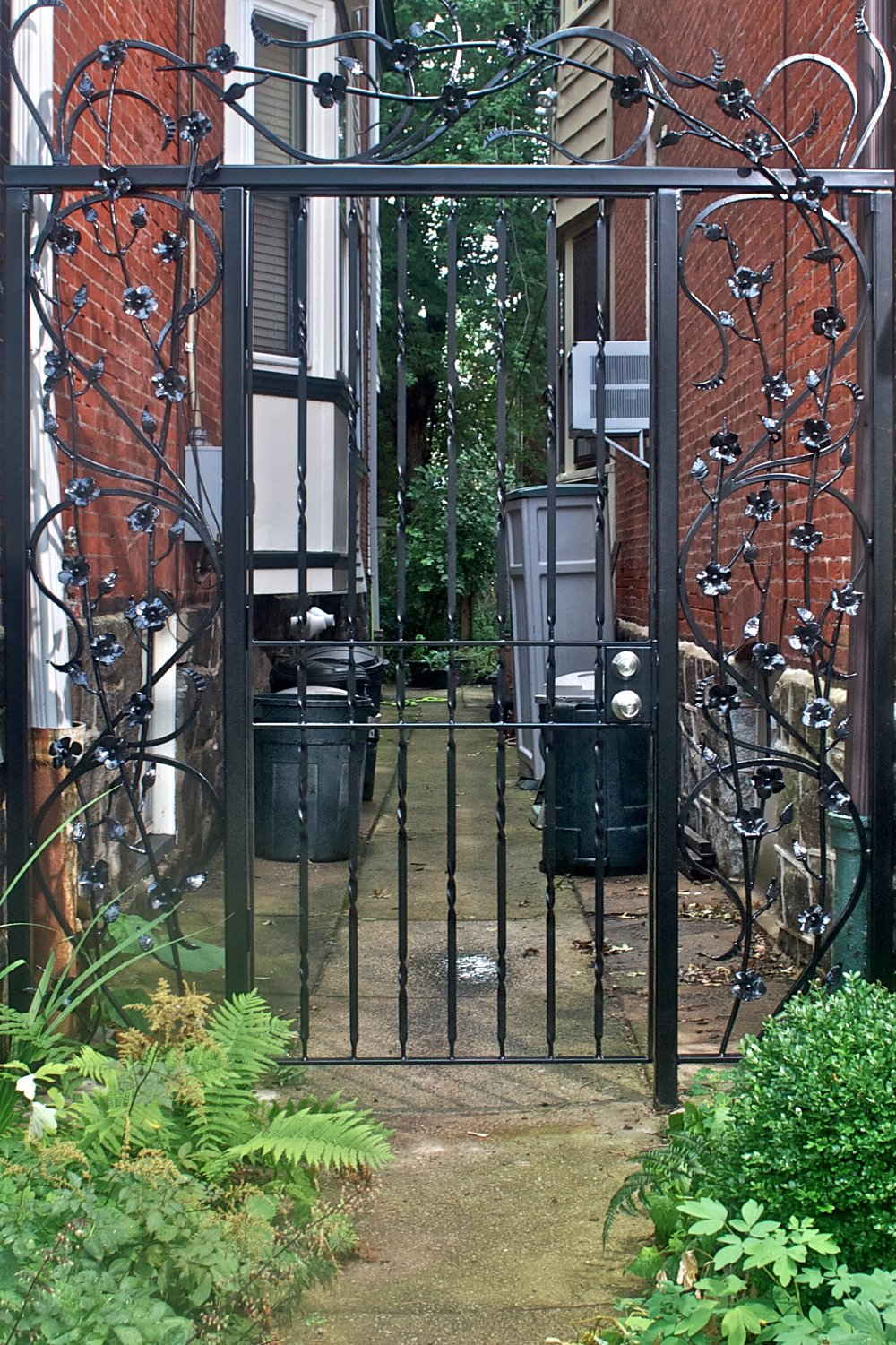 DOGWOOD GATE - private residence, Florence St. Philadelphia, PA