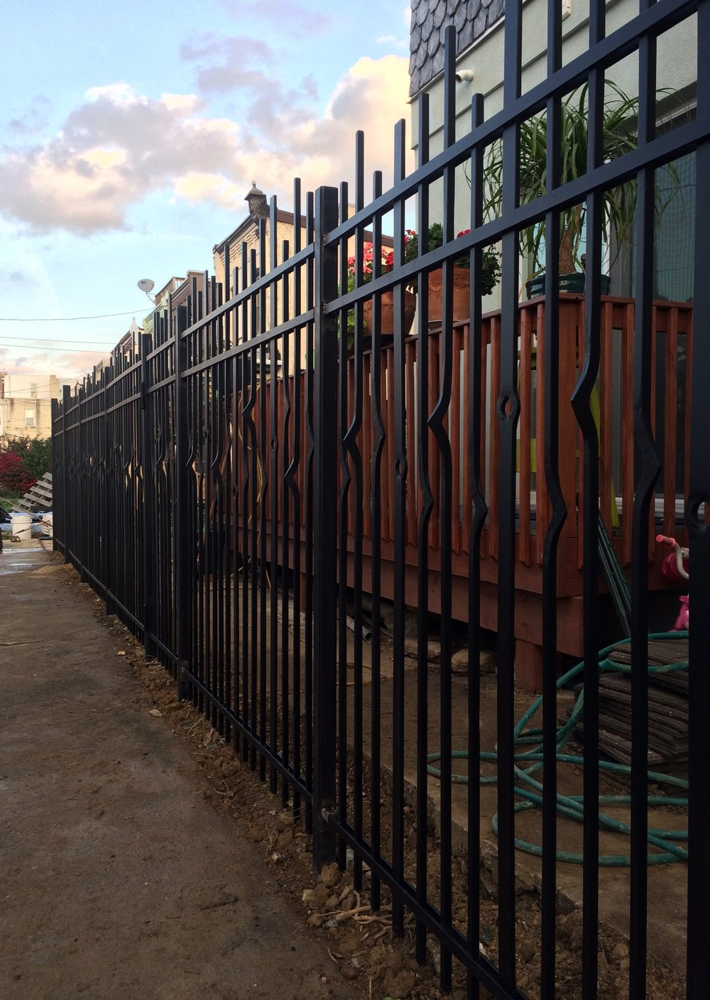 FORGED IRON FENCE - private residence, Pentridge St., Philadelphia PA