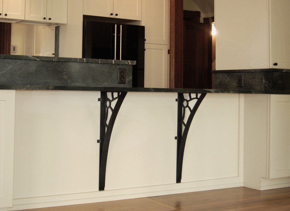 SHELF BRACKETS - custom designed for kitchen bar