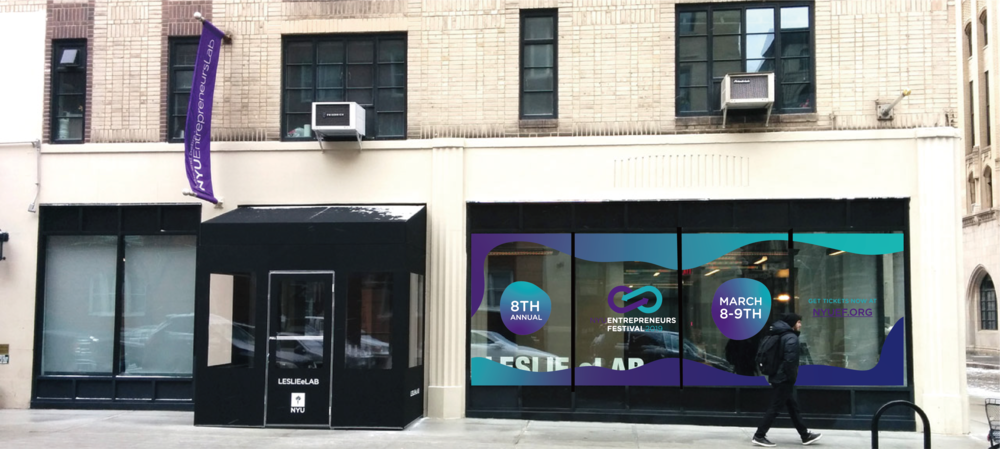 Window graphics by Unique Print NY displayed at 16 Washington Place