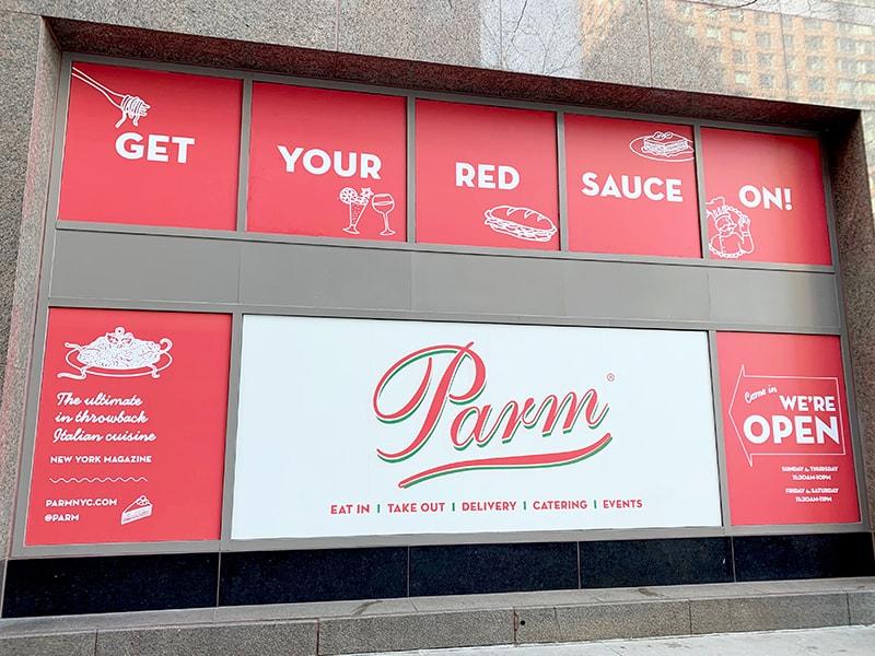 Unique Print NY - Large Format Printing - Parm Restaurant Window Graphics-min.jpg