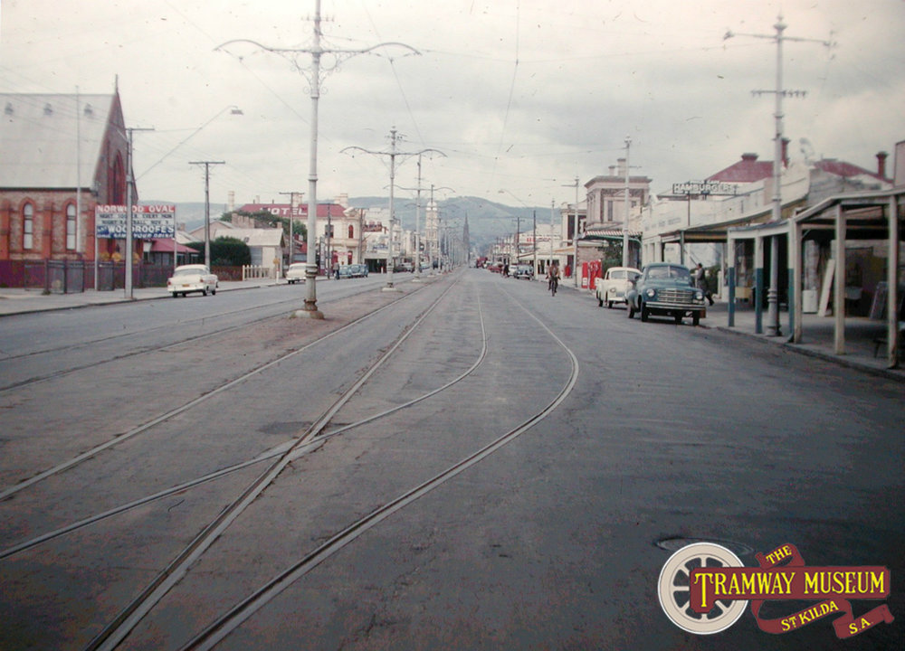 The siding located in Norwood Parade opposite Norwood Oval. Photo: Keith Kings.
