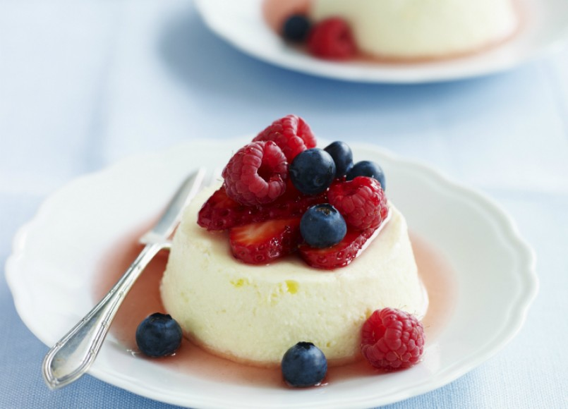 Ricotta Cheesecake with Macerated Berries -