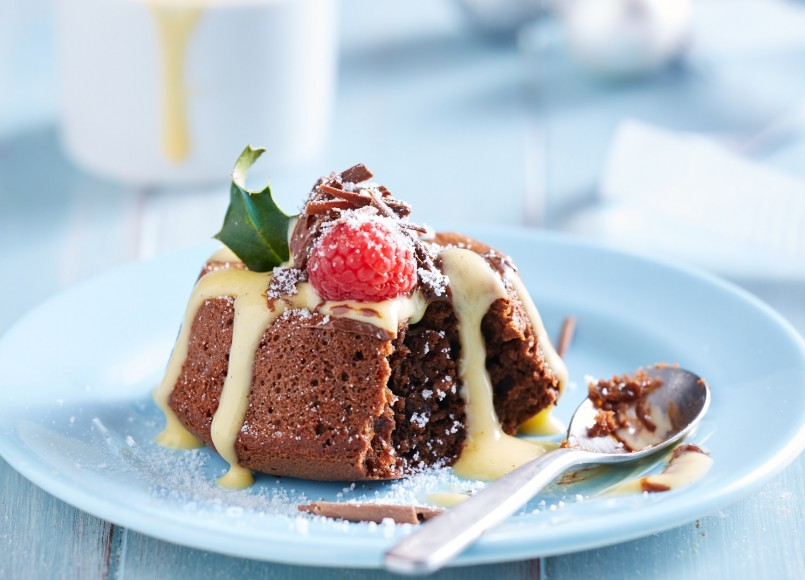 Spiced Chocolate Puddings -