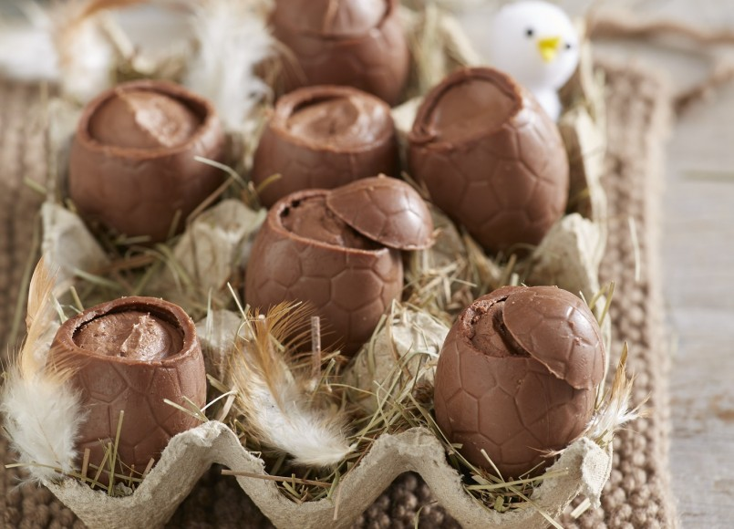 Chocolate Mousse Eggs -