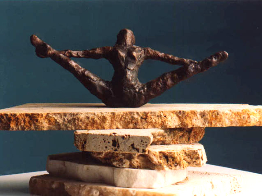 1982  Dancer 2  Bronze 17 cm wide x 7 cm deep x 10 cm high