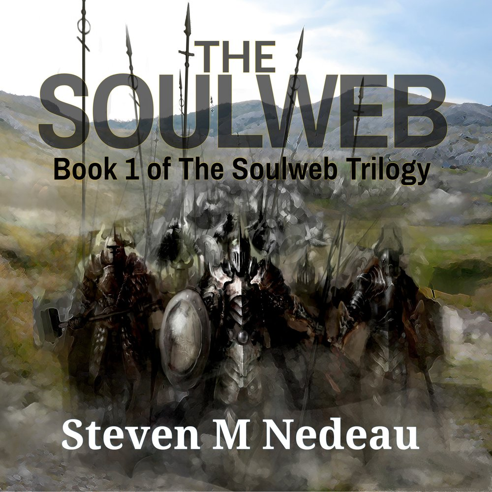 The Soulweb - Pushing heavy tomes onto marble shelves and translating archaic text until the wee hours of the night could not prepare Jaron for the trials in store for him. After years of teaching history, he will learn that books do not always tell the truth as he becomes a pawn in a war between kings.Centuries ago, King Mavius's spell caused destruction beyond reasoning, weaving a web around and through the souls of his knights. Even now the spell of that long dead king pulls at his descendants and Jaron must trade his books for blades when Mavius, with his knights behind him, returns from beyond the grave to reclaim his throne.