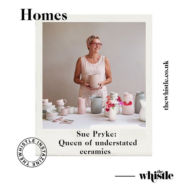 From the archives: Sue Pryke is an award winning tableware designer. She lives in Leicestershire where she runs her design studio and workshop. Swipe left to read her interview and see some of her beautiful work