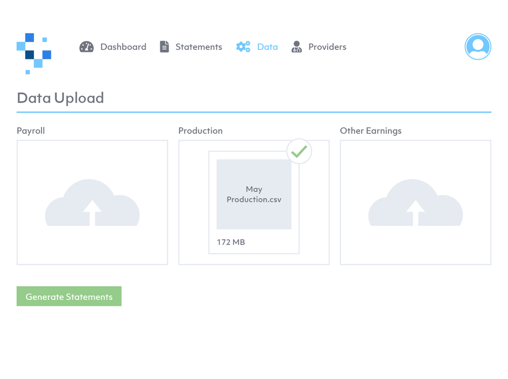 Works seamlessly with any EMR and Payroll system - Simpliphy accepts standard files from your current EMR and Payroll systems. Unique import process allows the software to accept multiple sources of data to calculate compensation.