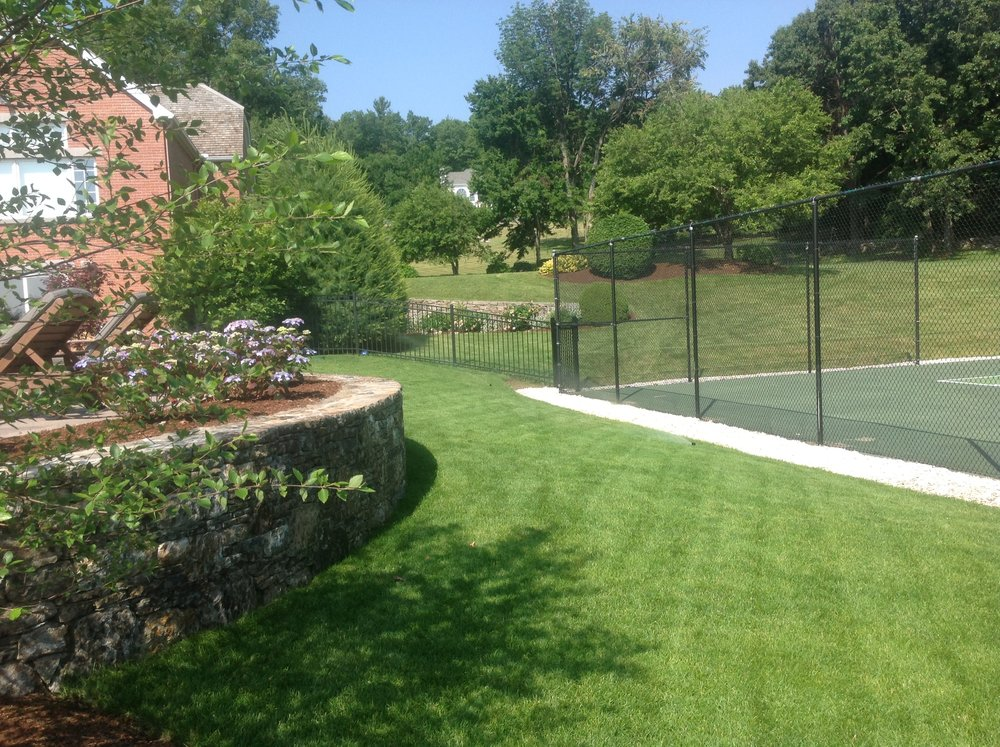 Lawn mowing, fertilizing, spring cleaning, plantings