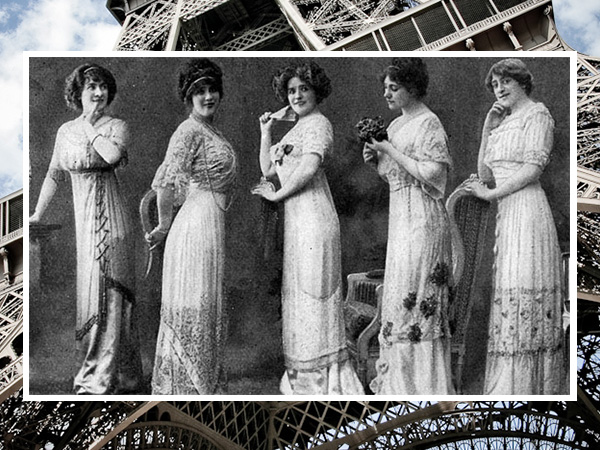 Models in Paris in the early 1900s