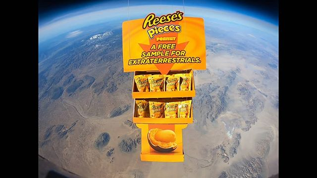 Flying high with @reesecanada and the literal product launch of Reese's Pieces Peanut!