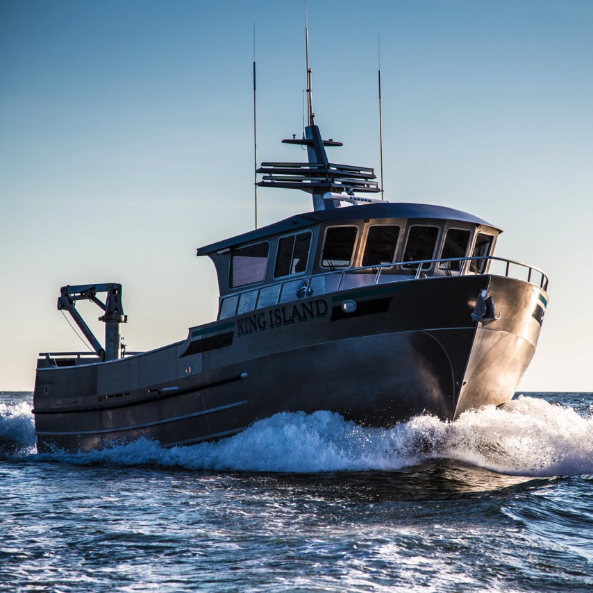 The F/V King Island, built by Bay Welding, has an 18 ton RSW system on board.
