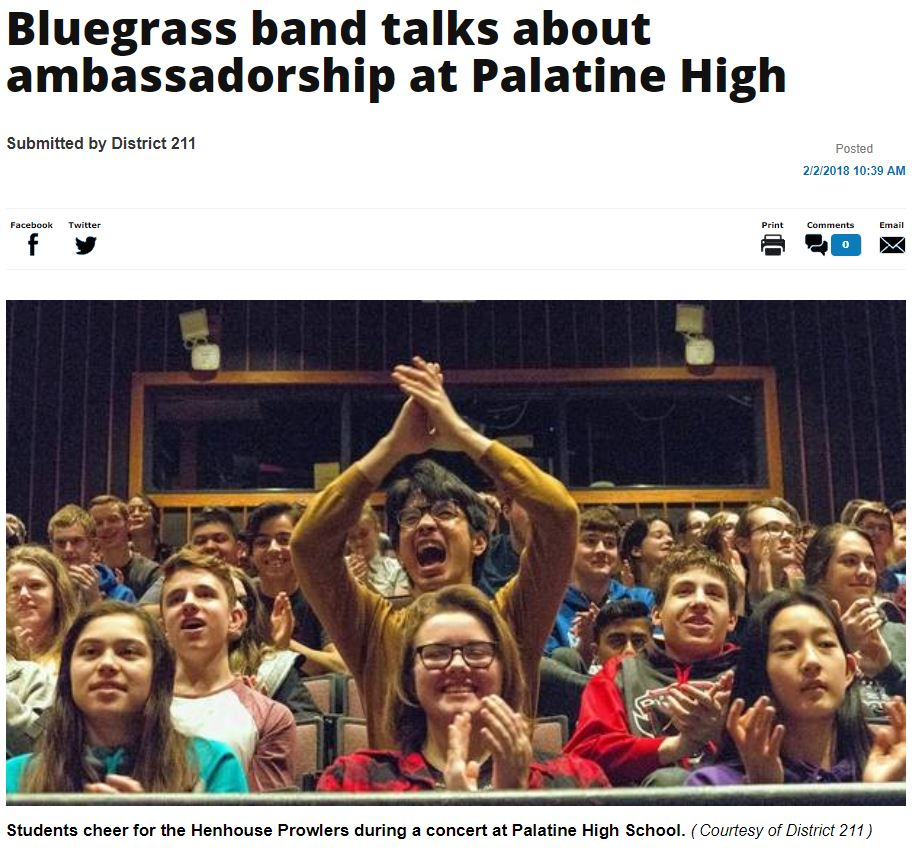 Bluegrass Band Talks about Ambassadorship at Palatine High.JPG