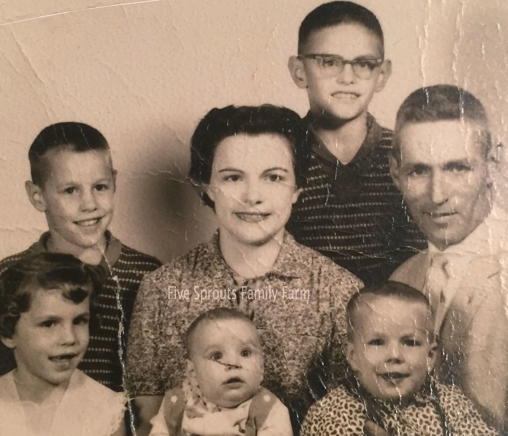 My Grandparents, father and 4 siblings.