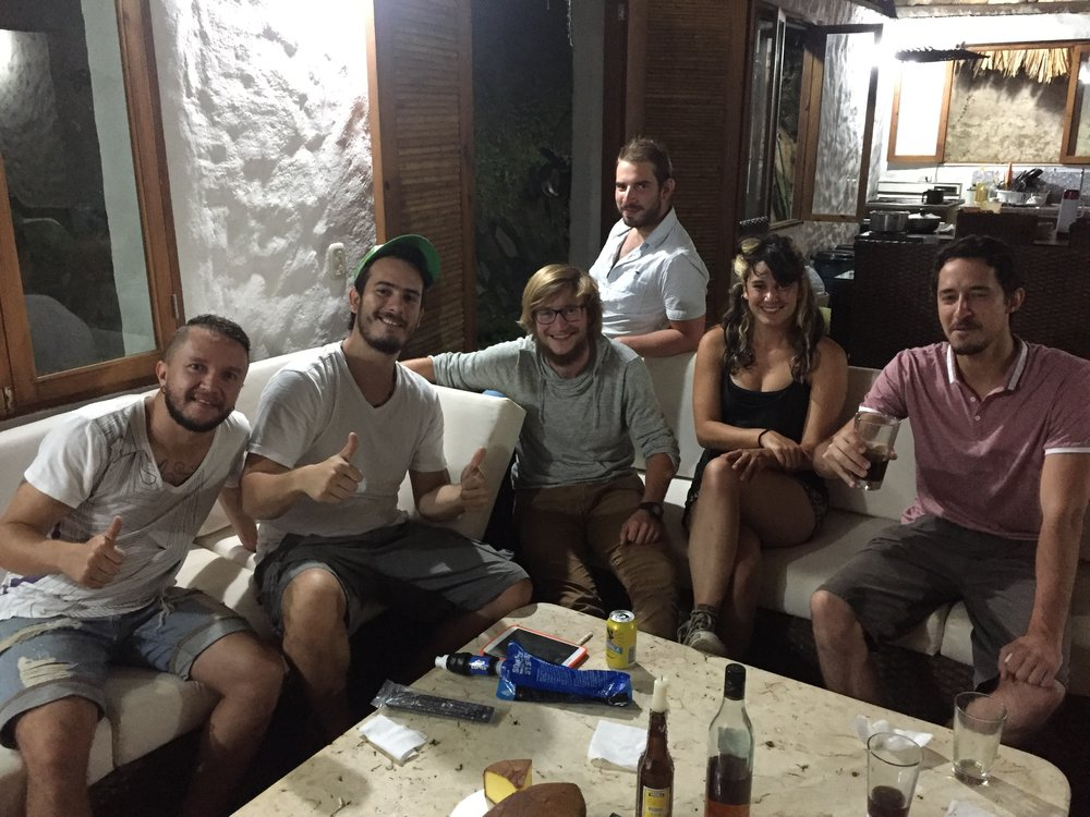 MINCA, COLOMBIA – JULY 25TH, 2017: Casa Relax's owner Santiago (Center Left) and the rest of the guests at gather to surprise me with birthday cake and drinks, melting my heart in the process.