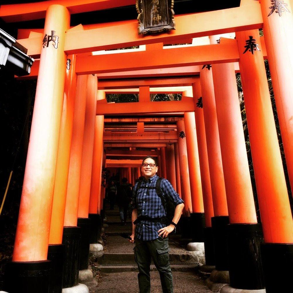 In Kyoto, Japan at the Fushimi Inari Temple.