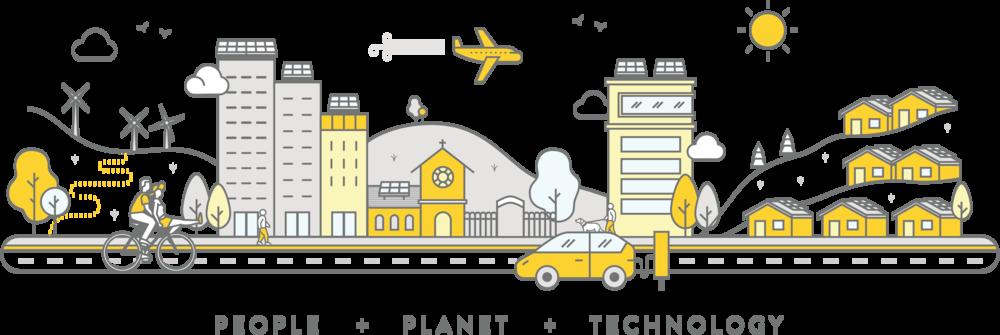 solar energy, sharing economy, people, planet, technology