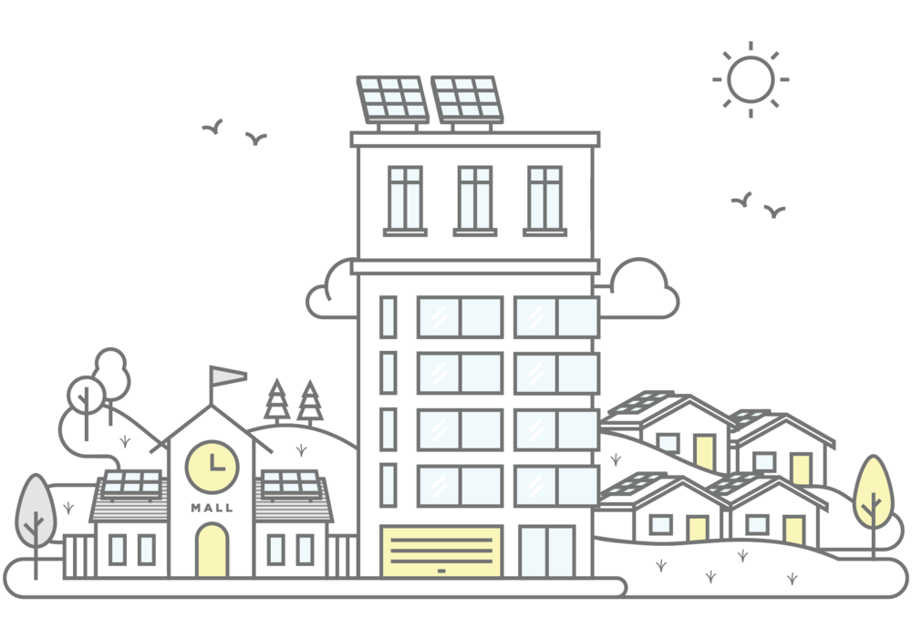 Solar power shared in apartments, retail, communities