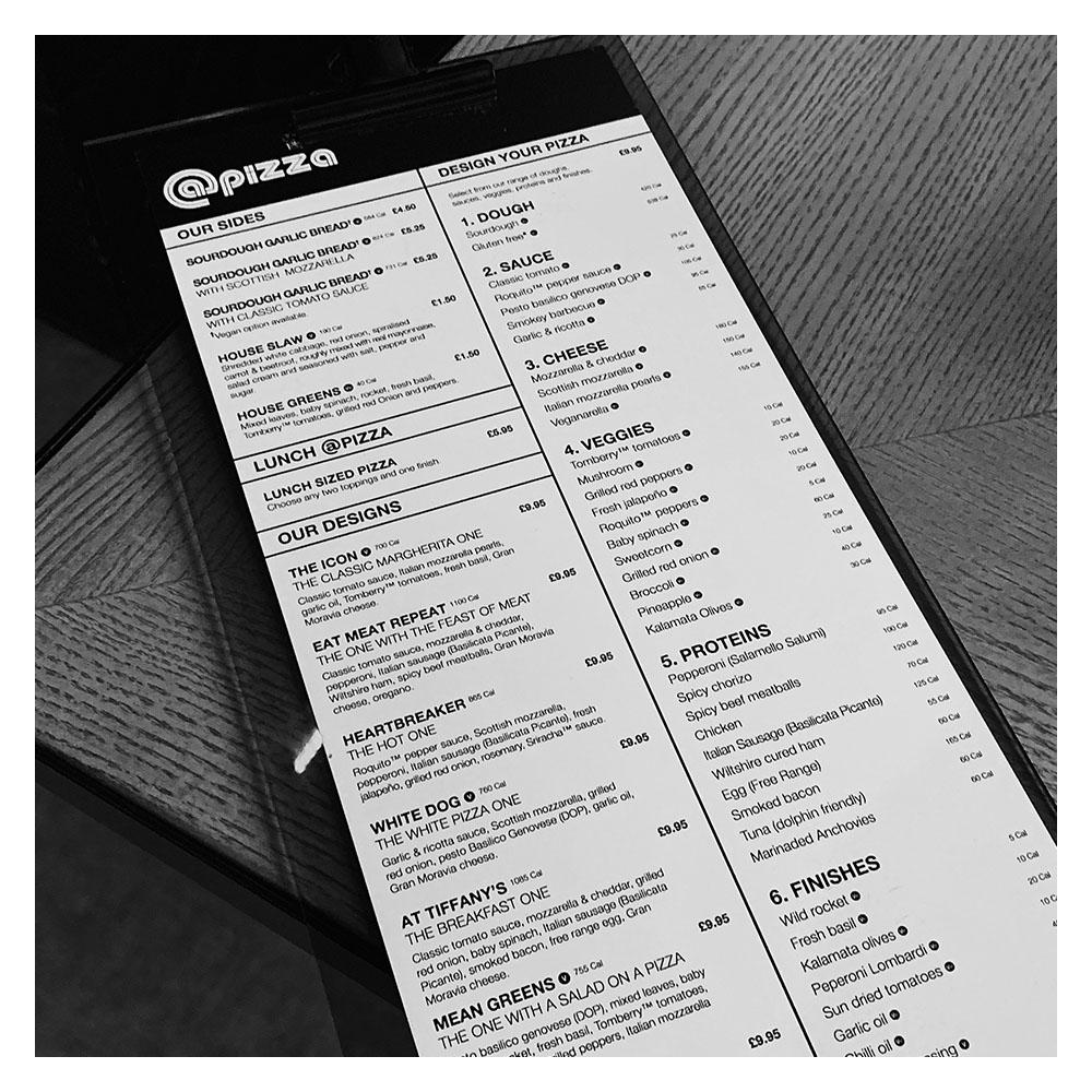 OUR MENU. - View our Edinburgh menu.