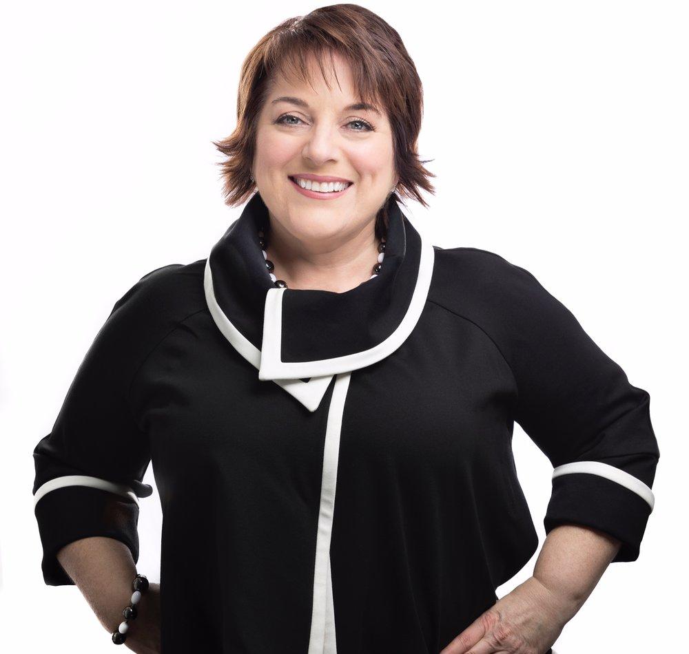Sandra Greene Black Blazer Headshot