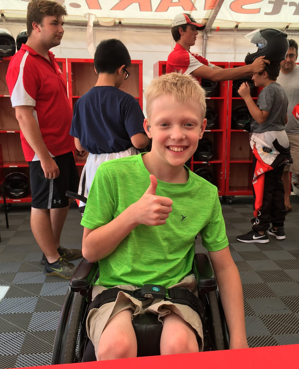 Hand-Controlled Go-Kart - A professionally designed accessible go-kart made specifically for children with physical disabilities affecting the lower body is available so they have an equal opportunity to learn safe driving fundamentals with their peers.