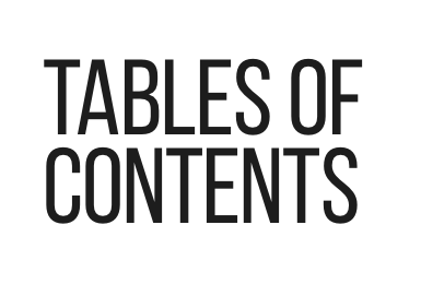 TABLES OF CONTENTS - Tables of Contents brings writers and cooks, readers and eaters together, exploring the intersections of food and literature and what drives us to create and consume them both.