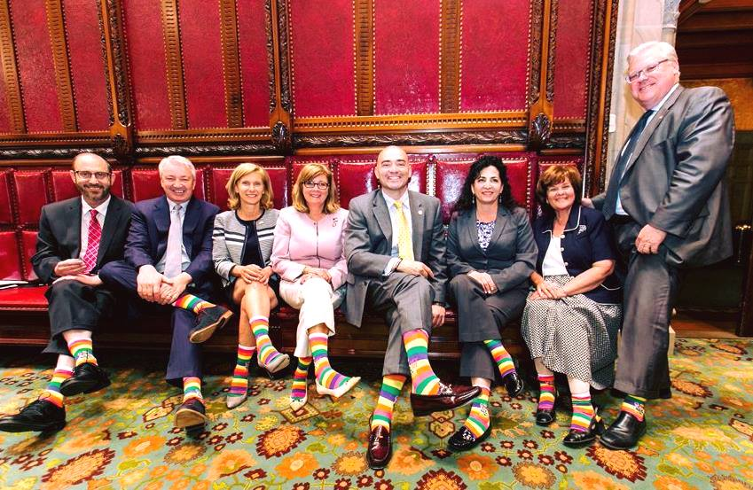 NY Assembly wearing their socks