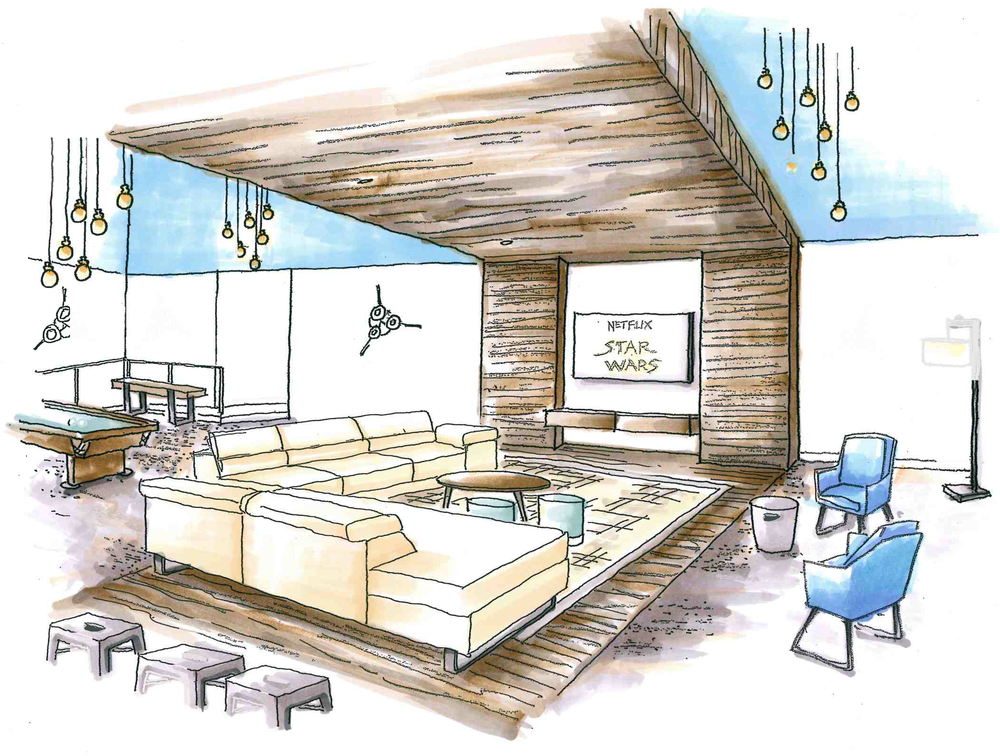New Lounge + Entertainment Area