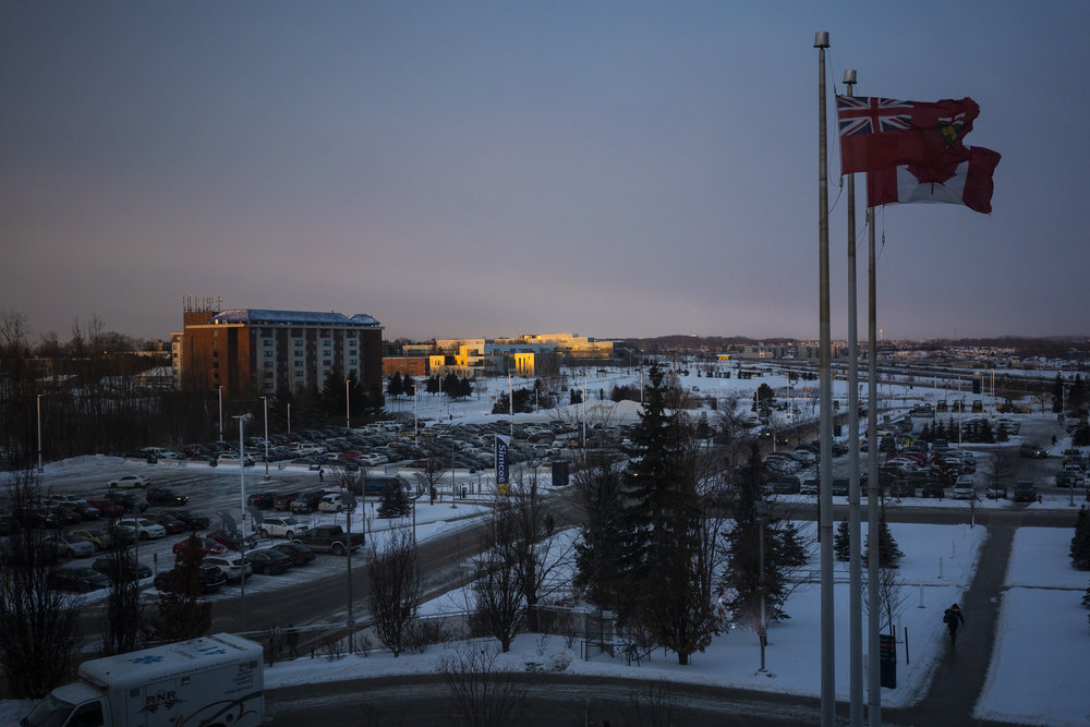 A gorgeous morning for a baby to come into the world from Barrie's Royal Victoria Hospital (RVH).