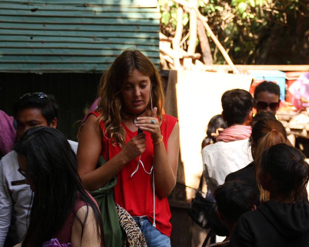 Inspelning av Respodden, Kambodja.