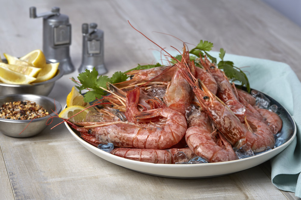 Argentine Red Shrimp   Argentine Red Shrimp ( Pleoticus Muelleri ) are wild caught in the deep waters of the Western South Atlantic area. They are jumbo sized and often compared to lobster but sweeter!