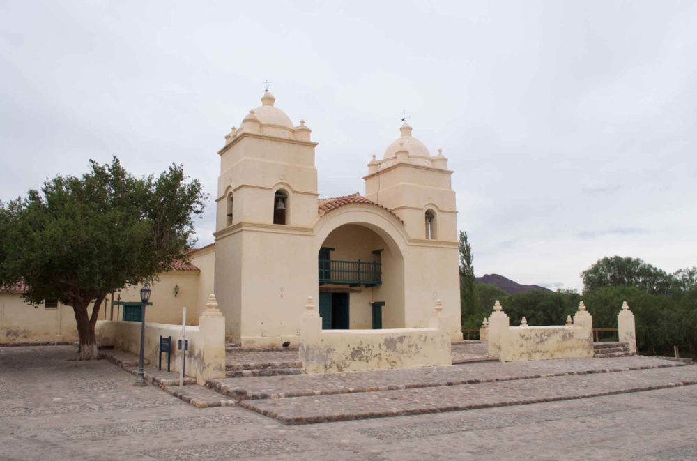 The church in front of Hacienda Molinos.
